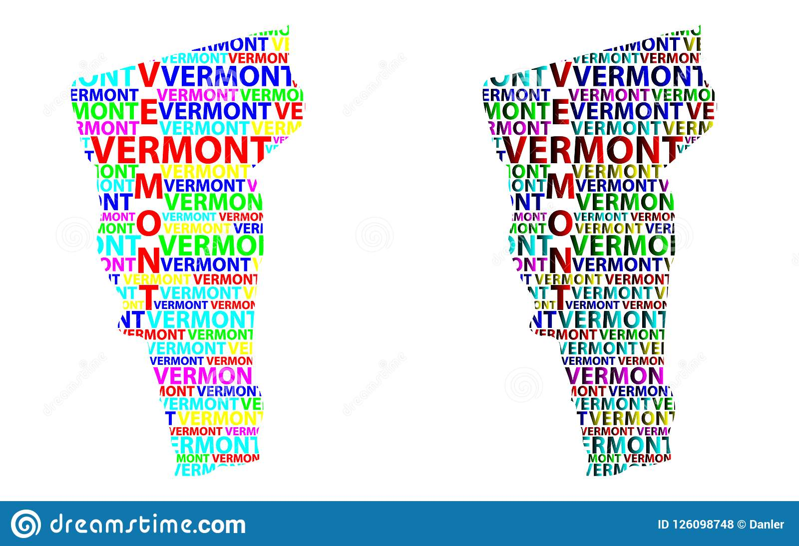 Map Of America Vermont.Map Of Vermont Vector Illustration Stock Vector Illustration Of