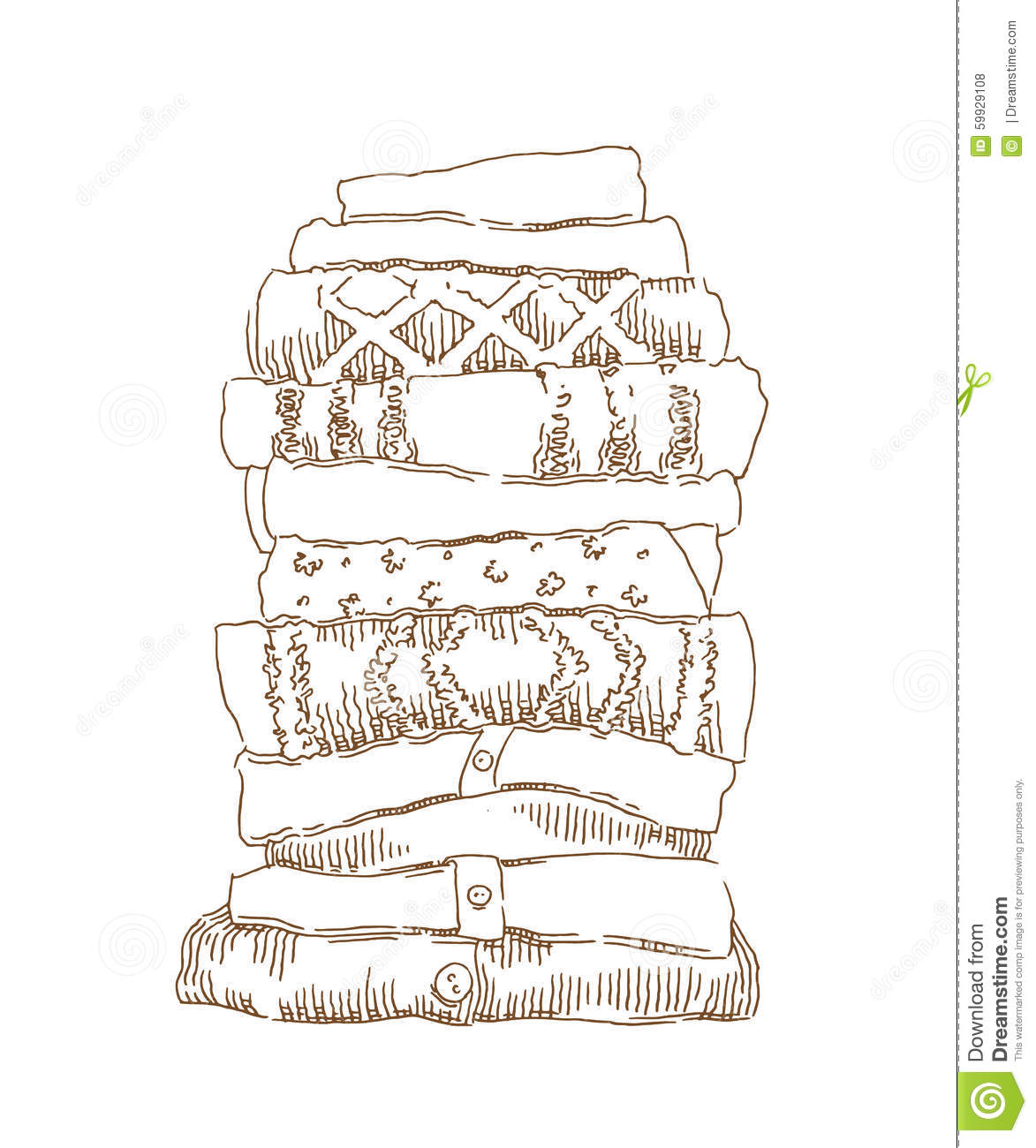 sketch of warm clothes stock vector image 59929108