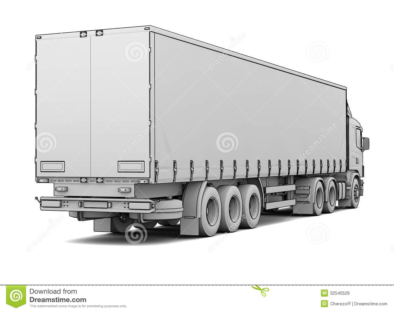 Sketch White Truck Royalty Free Stock Image Image 32540526