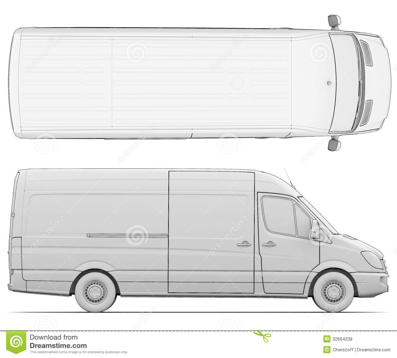 Line Art Xl 2008 : Sketch white van stock illustration of