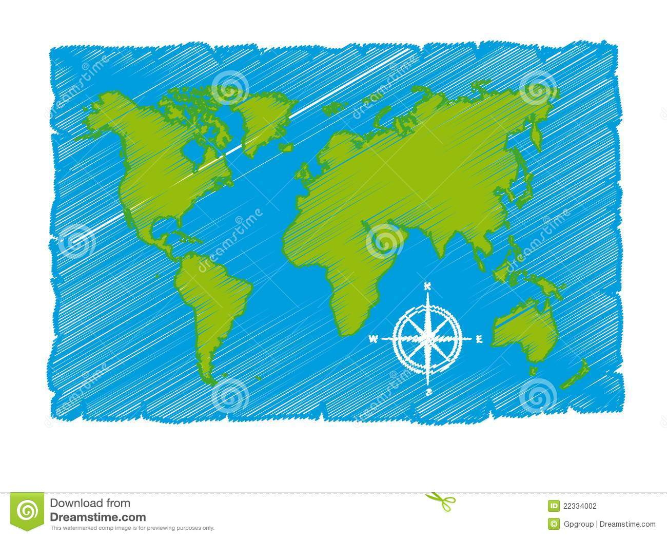 Sketch of world map stock vector illustration of east 22334002 sketch of world map royalty free stock photo gumiabroncs Images