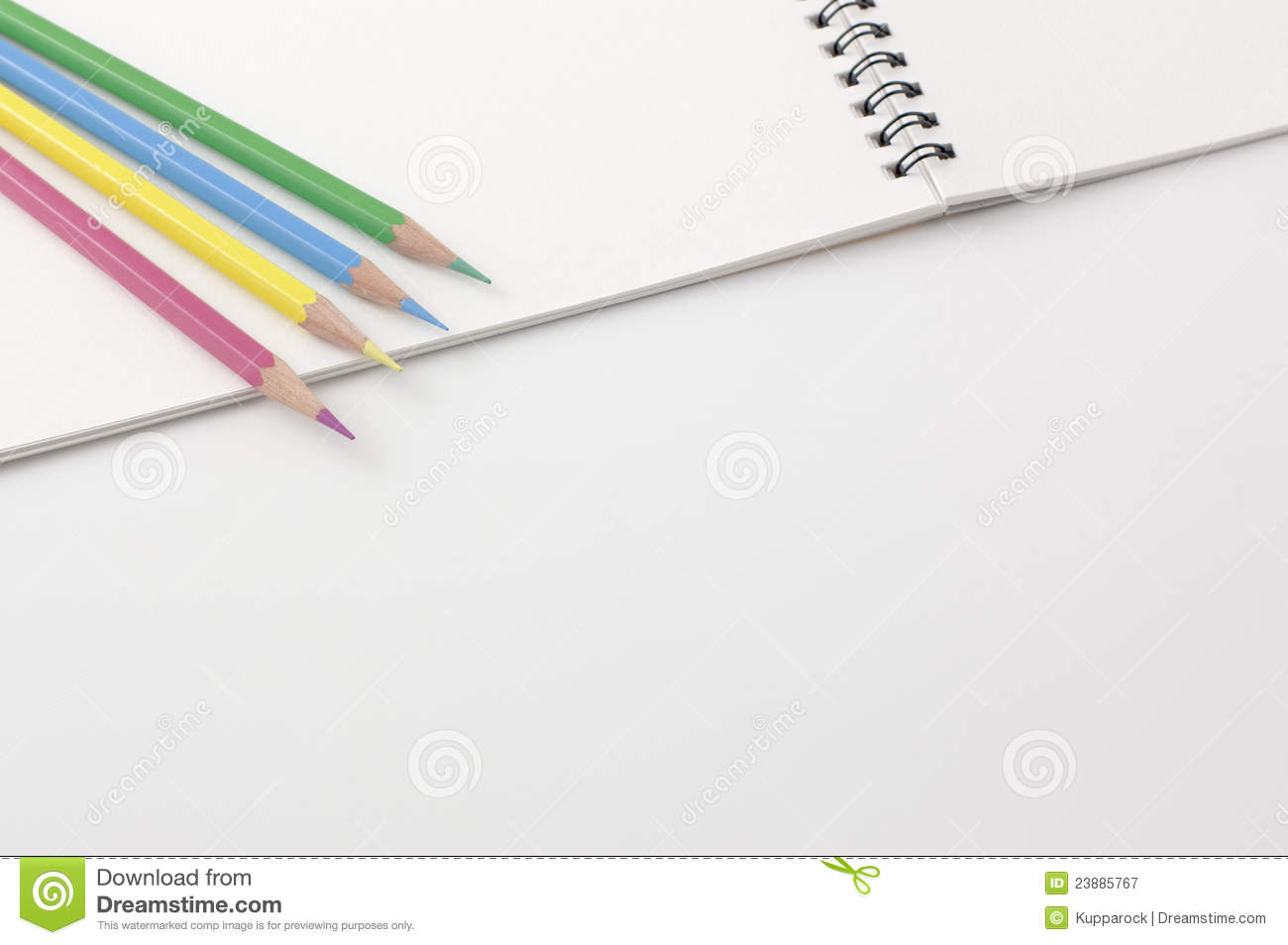 Notebook And Pen Sketch Stock Vector Art More Images Of: Sketchbook And Colored Pencils. Royalty Free Stock