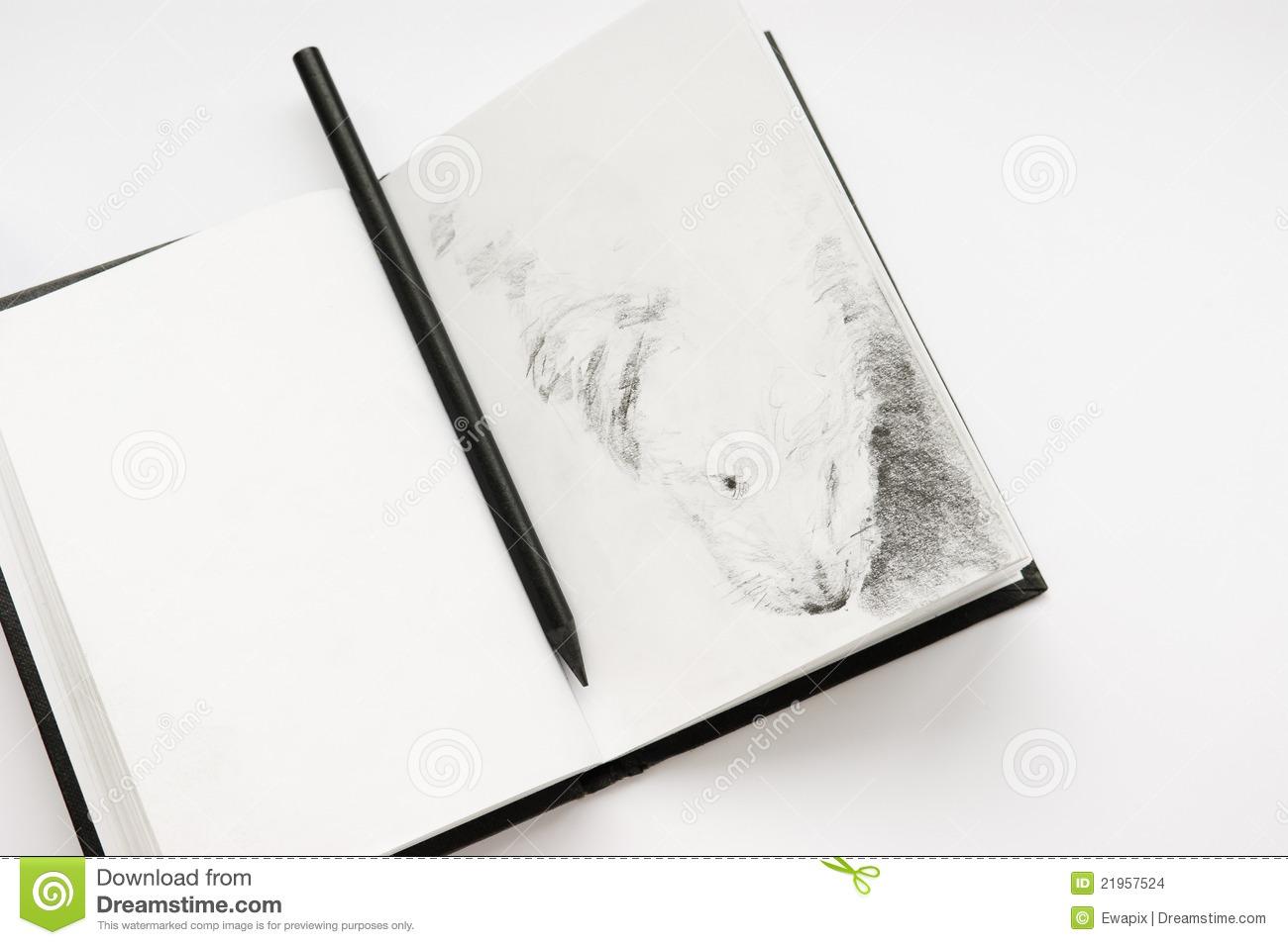 Sketchbook and a pencil stock photo image of sketching 21957524