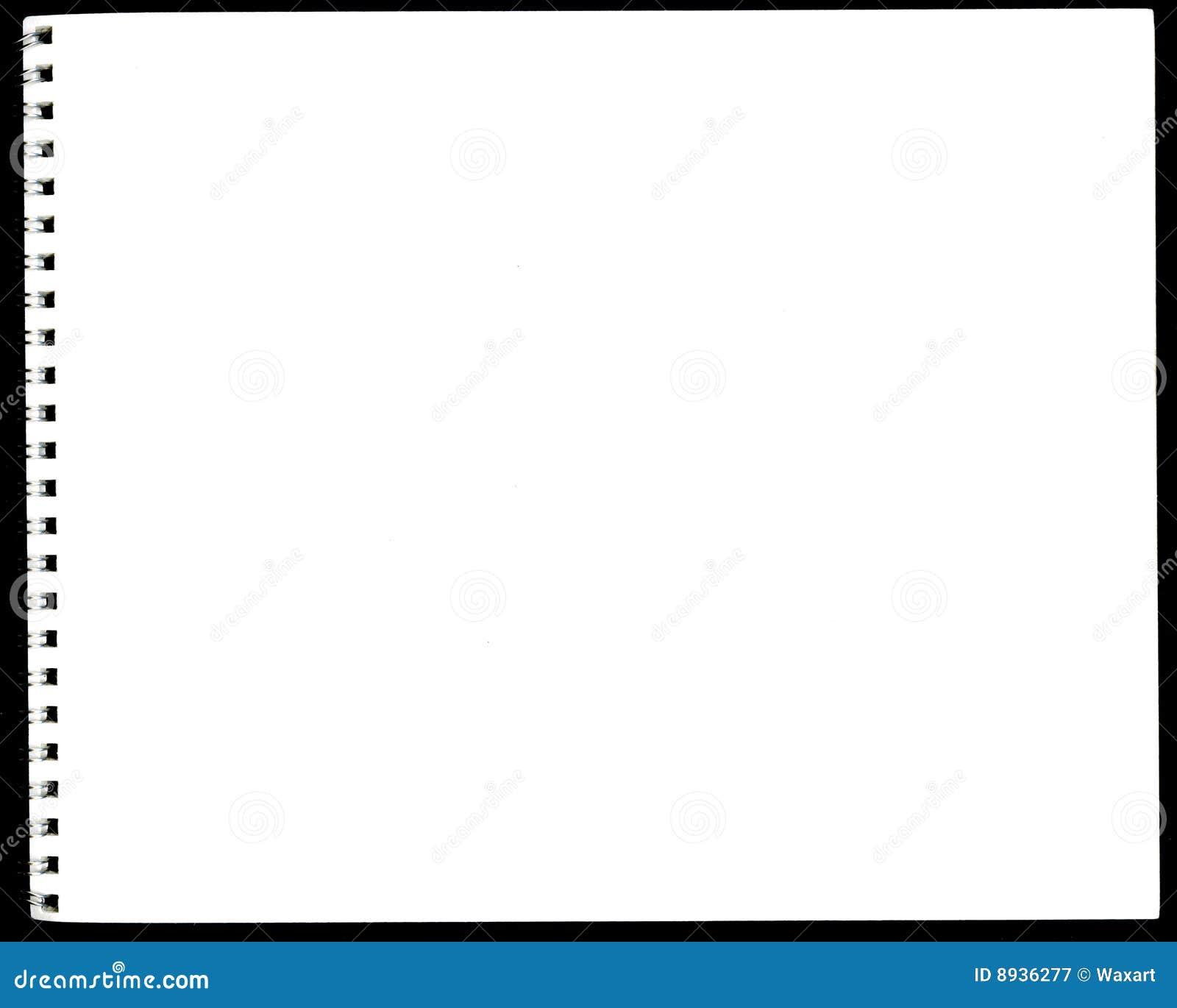 Sketchbook suportado espiral