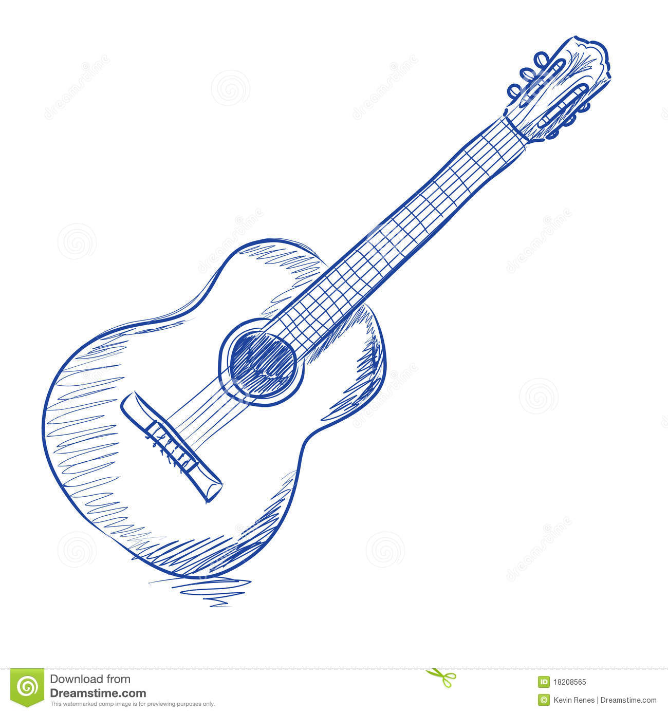 Sketched acoustic guitar