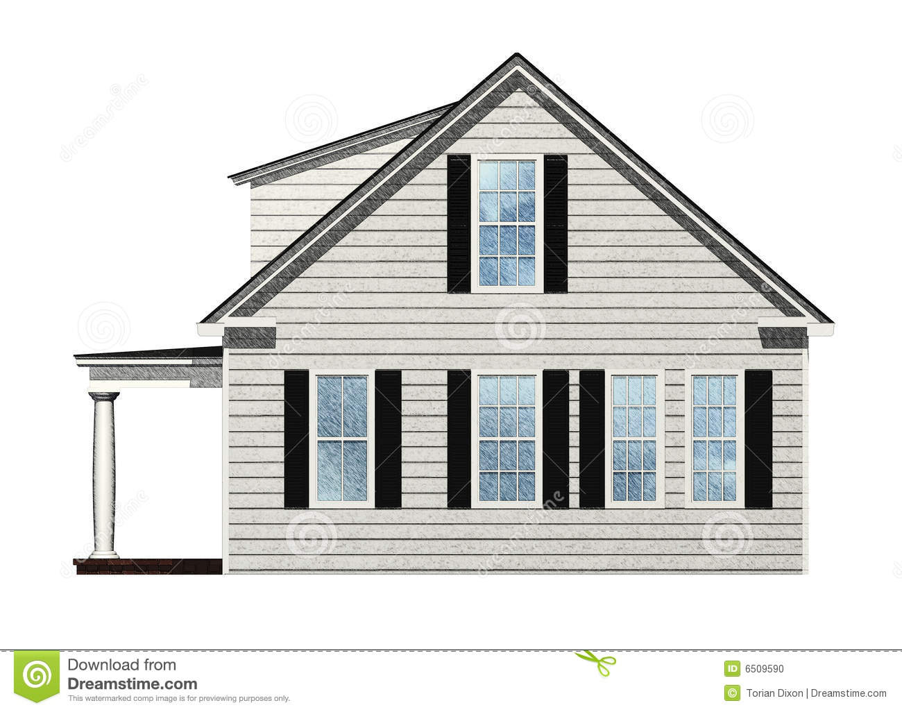 Sketched House Stock Photo Image 6509590