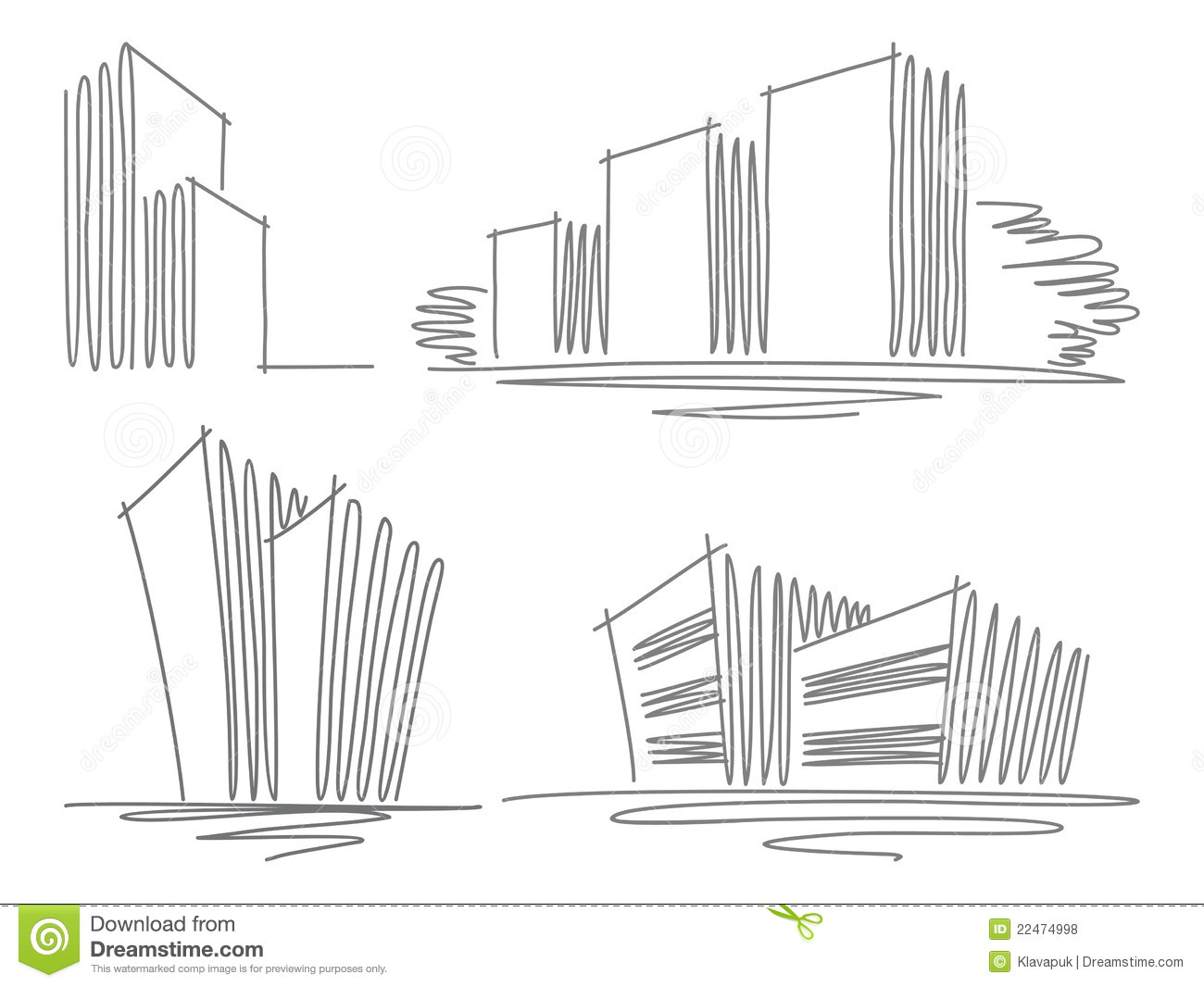 Sketches Of Buildings Royalty Free Stock Photos Image