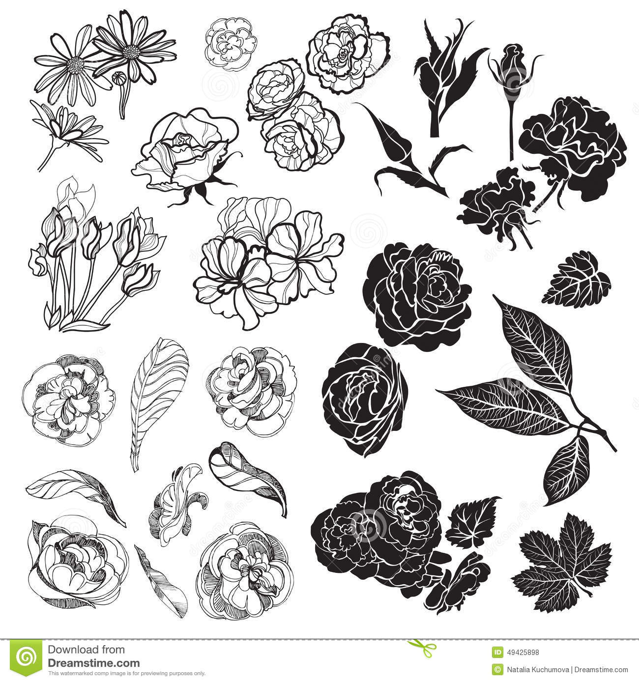 Sketches of flowers stock illustration illustration of beautiful sketches of flowers izmirmasajfo
