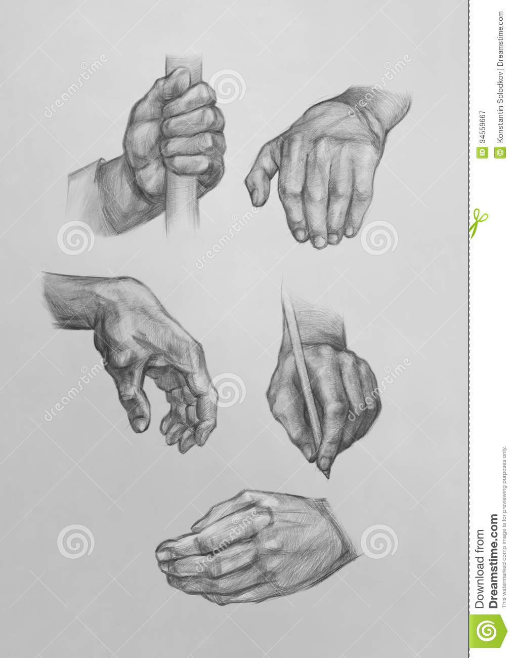Sketches Of Hands Royalty Free Stock Photography Image