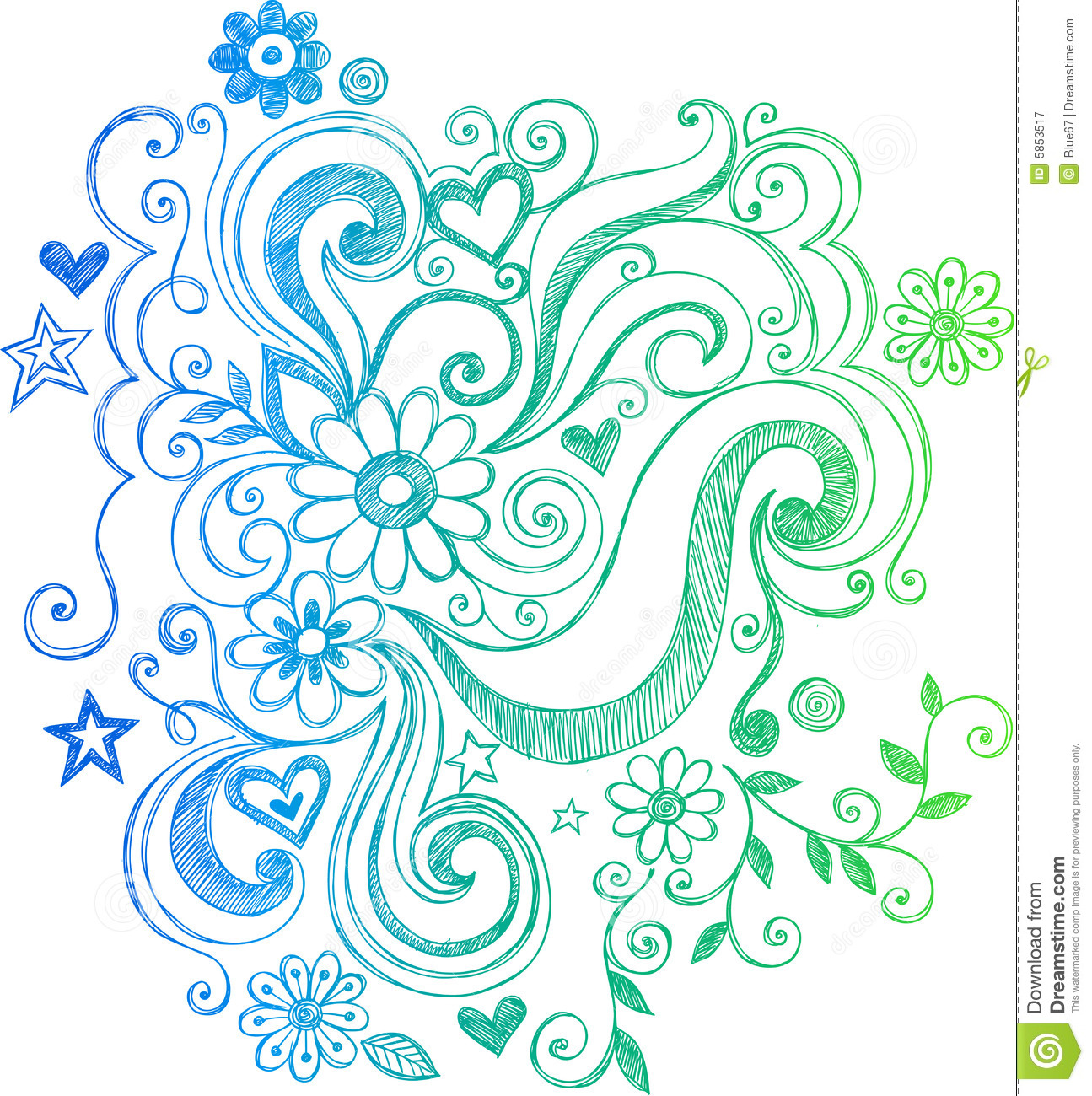 Download image Doodle Swirls And Flowers PC, Android, iPhone and iPad ...