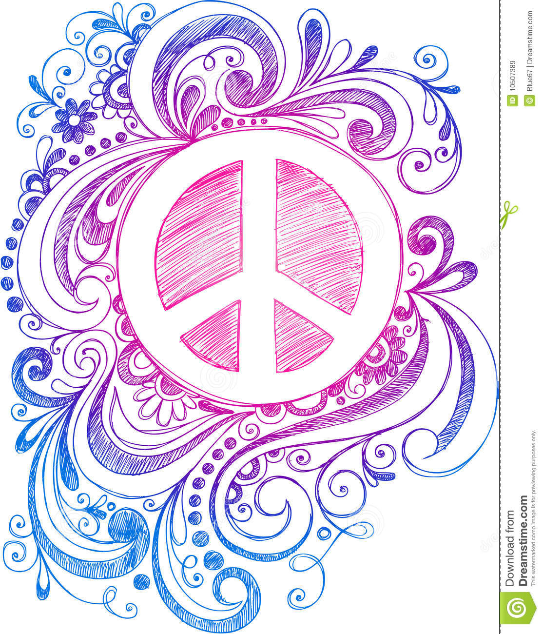 Sketchy doodle peace sign vector stock vector illustration of sketchy doodle peace sign vector buycottarizona