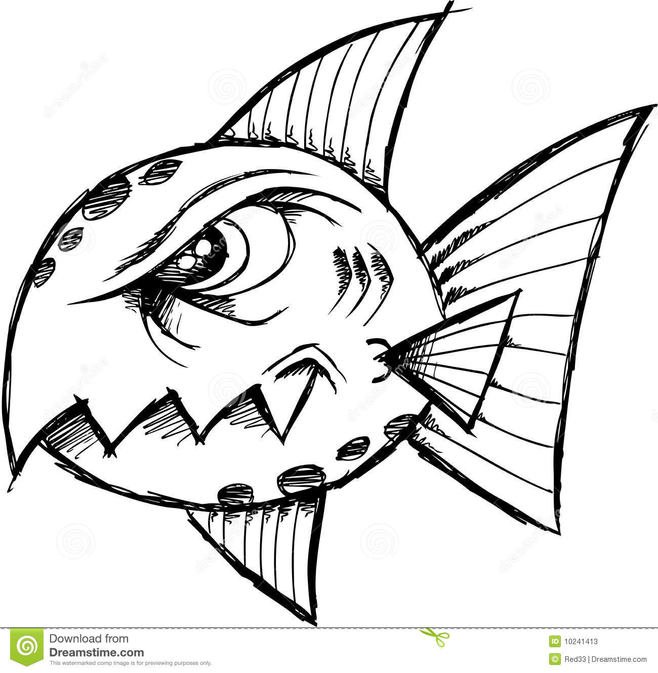 Sketchy mean fish vector stock photos image 10241413 for What does it mean to dream about fish