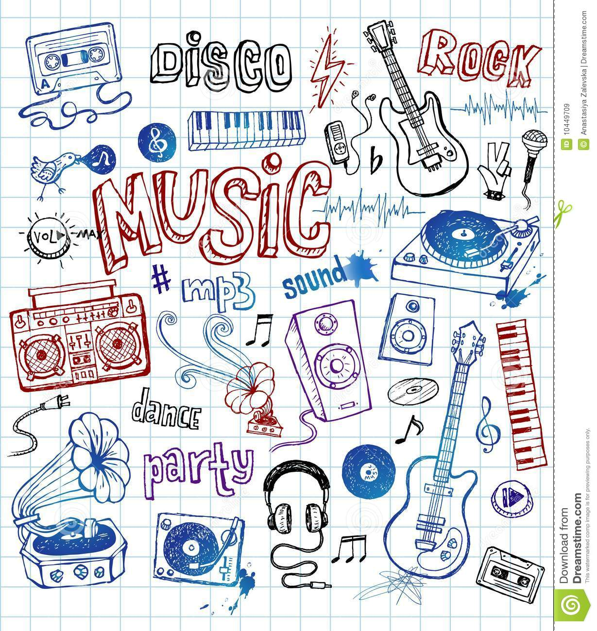Sketchy Music Illustrations Royalty Free Stock Images - Image ...