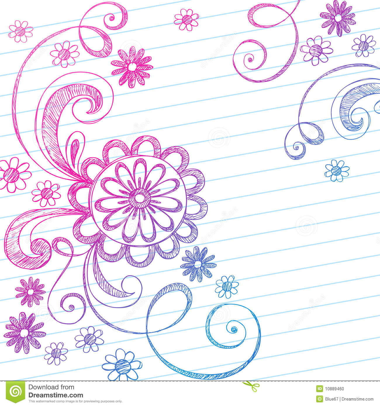 Notebook Paper Doodles Stock Photography Image: 32040452 - 1300x1390 ...