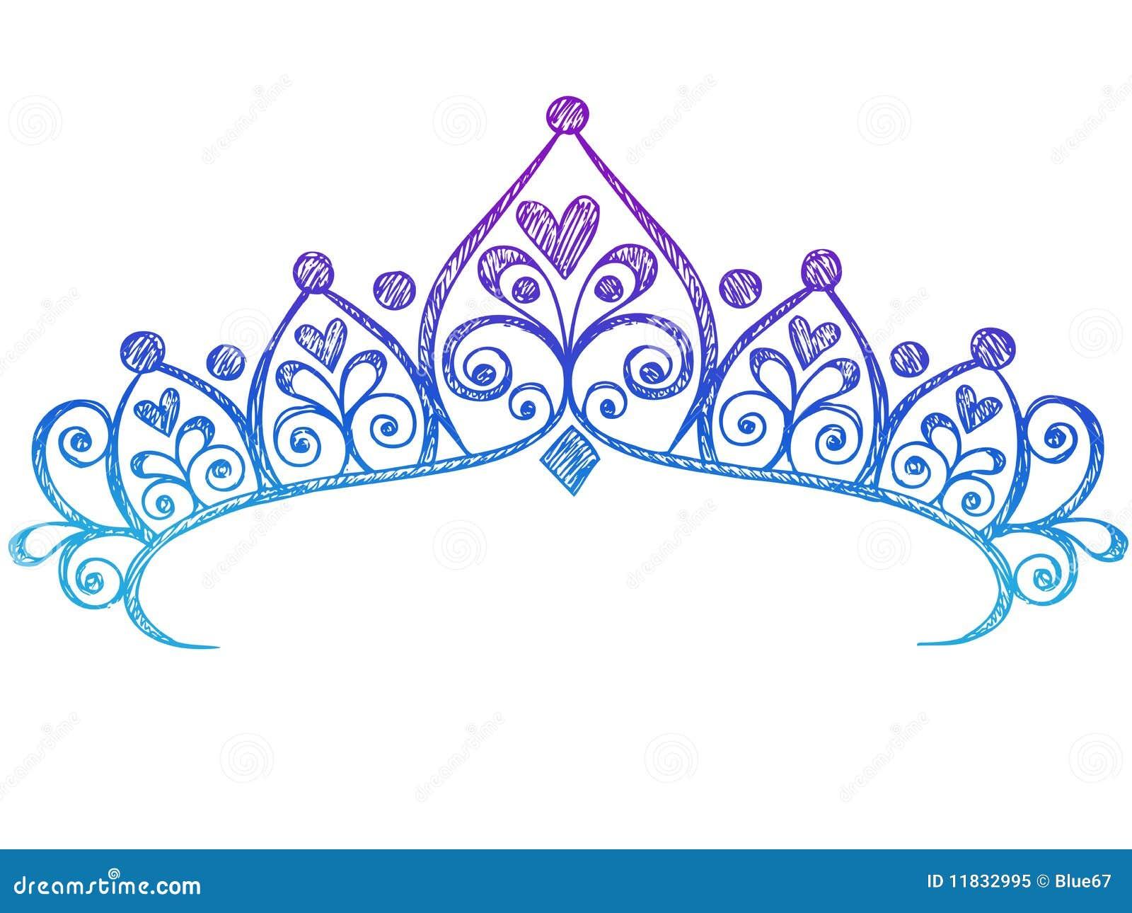 Sketchy Princess Tiara Crown Princess Crown Drawing Tattoo