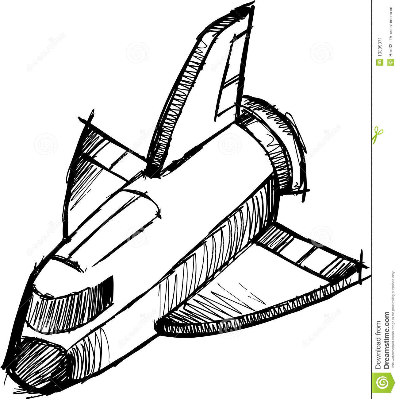 Line Art Rocket : Sketchy shuttle rocket vector stock image