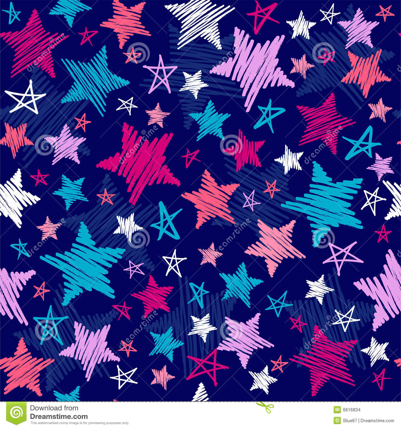 Sketchy Stars Pattern Stock Images - Image: 6616834