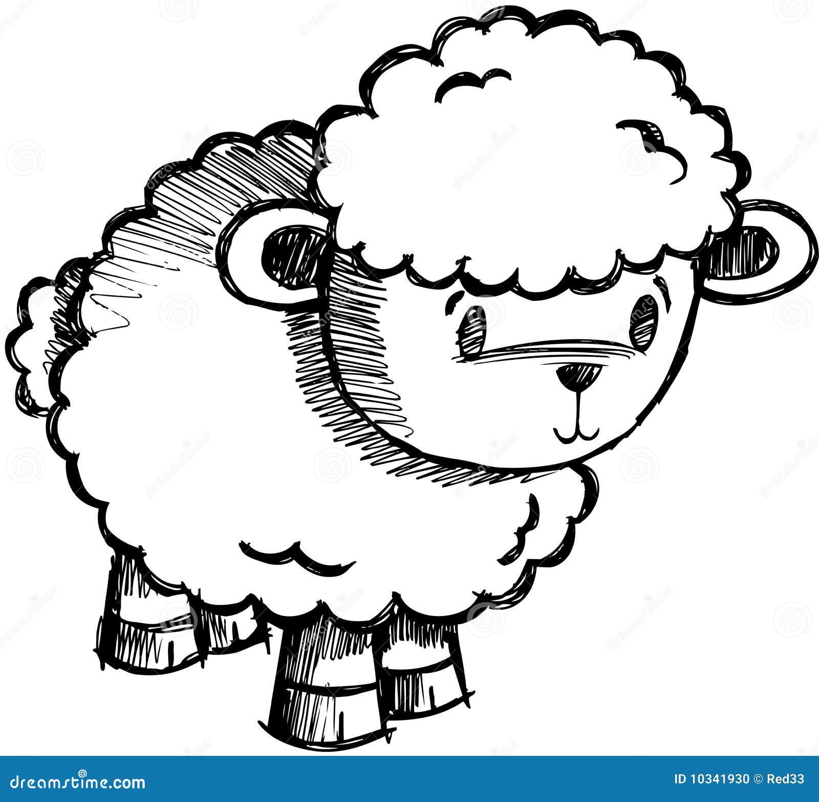 Sketchy vektor för lambfår