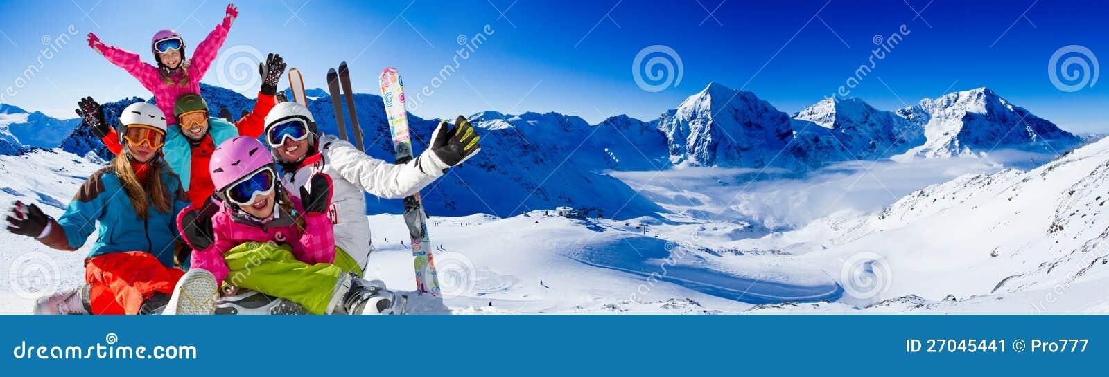 Ski, amusement de l hiver