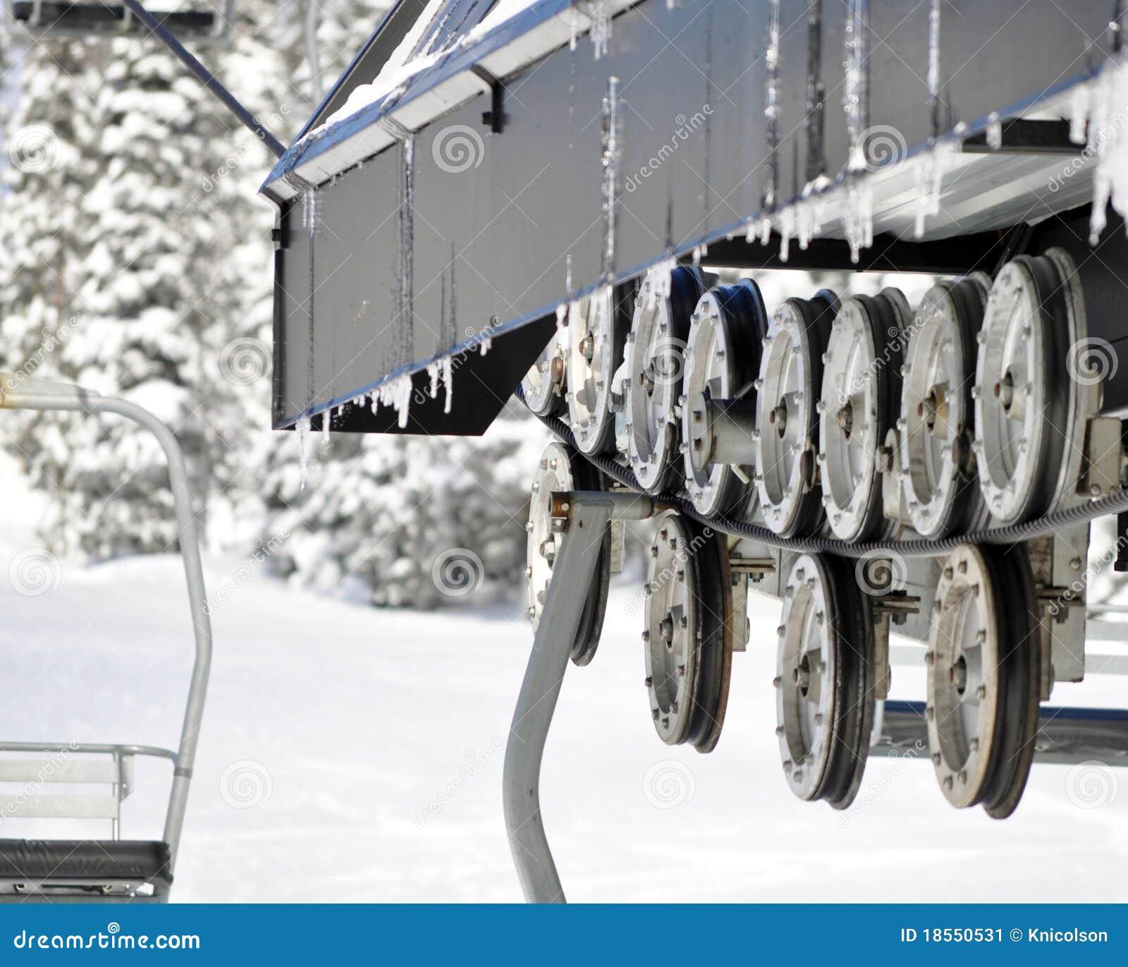 Ski chair lift stock image image 18550531