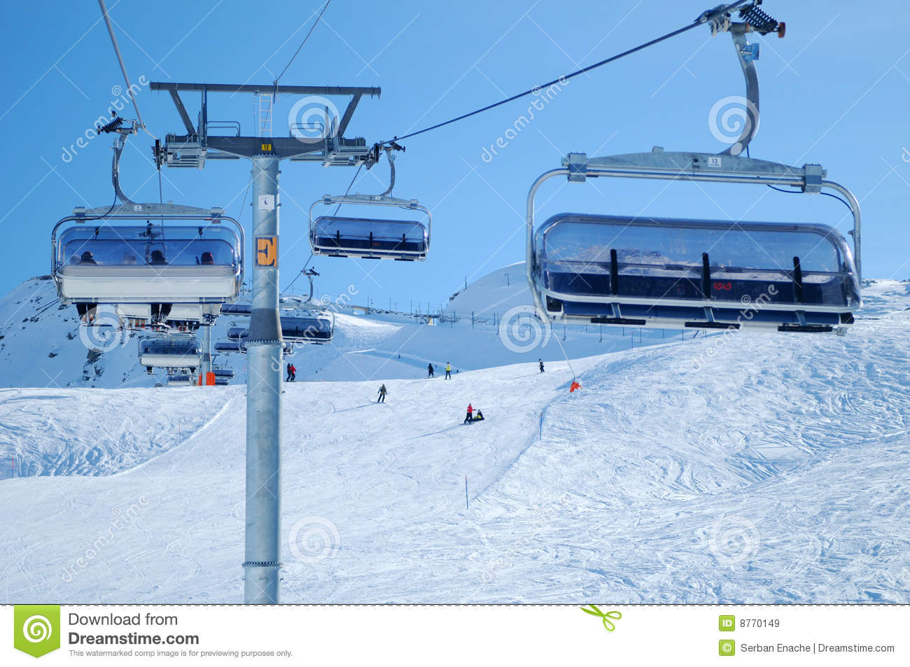 Ski Chairlift Royalty Free Stock Images - Image: 8770149