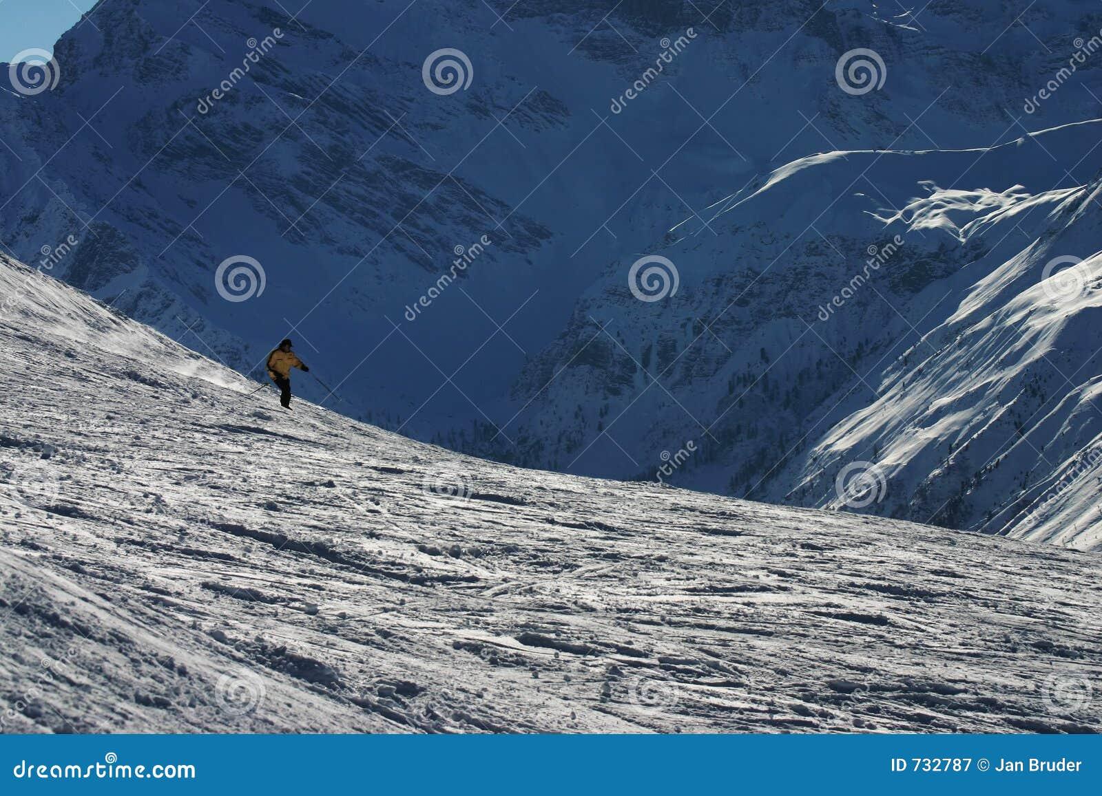 Ski dans les montagnes suisses