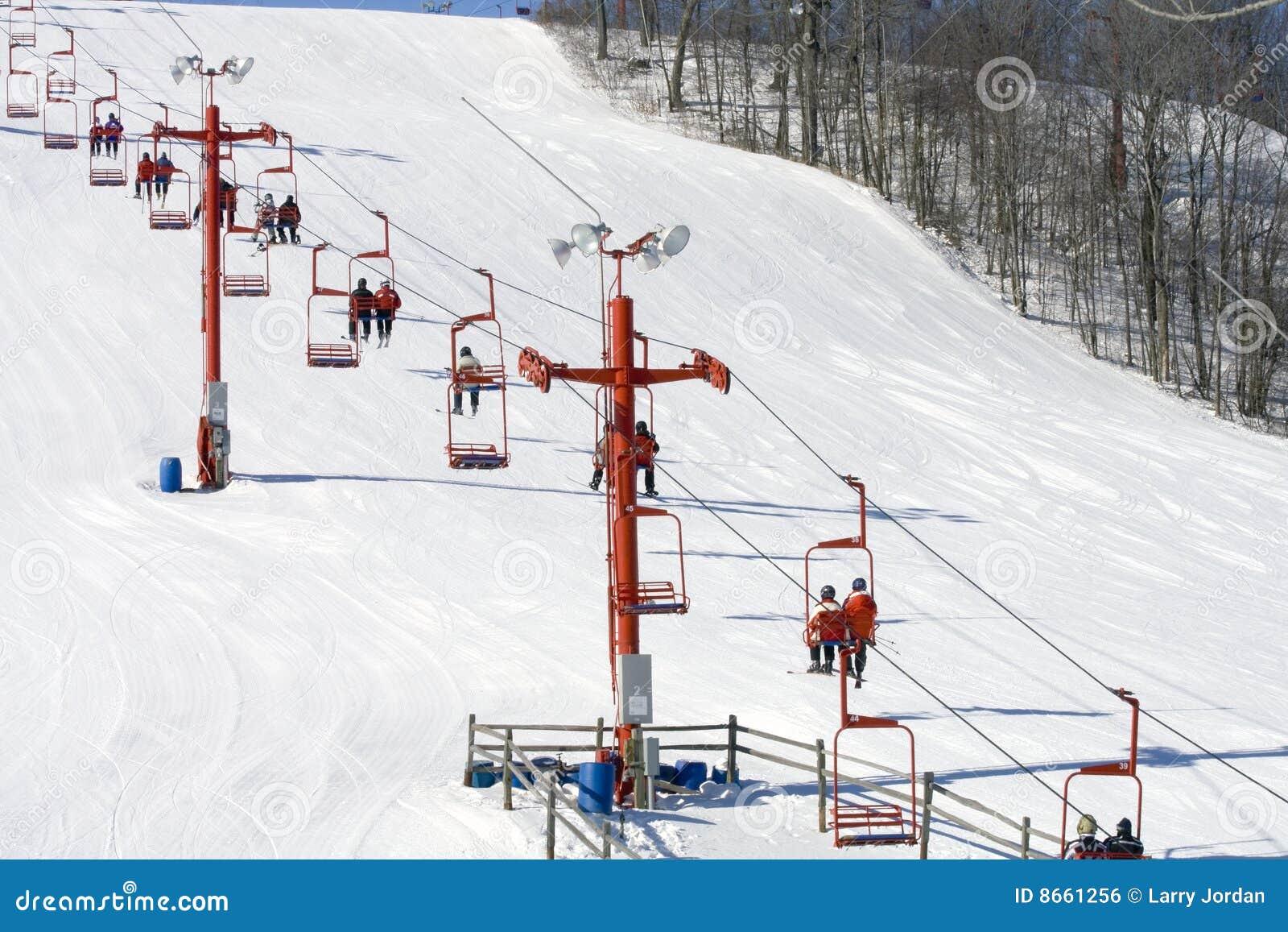 Ski de levage de groupes