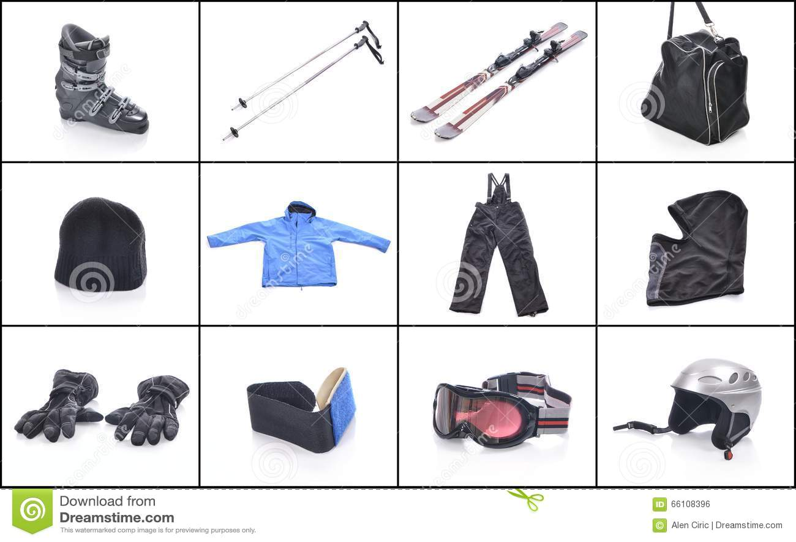 Ski Equipment Cosas Necesarias Para Esquiar Foto De