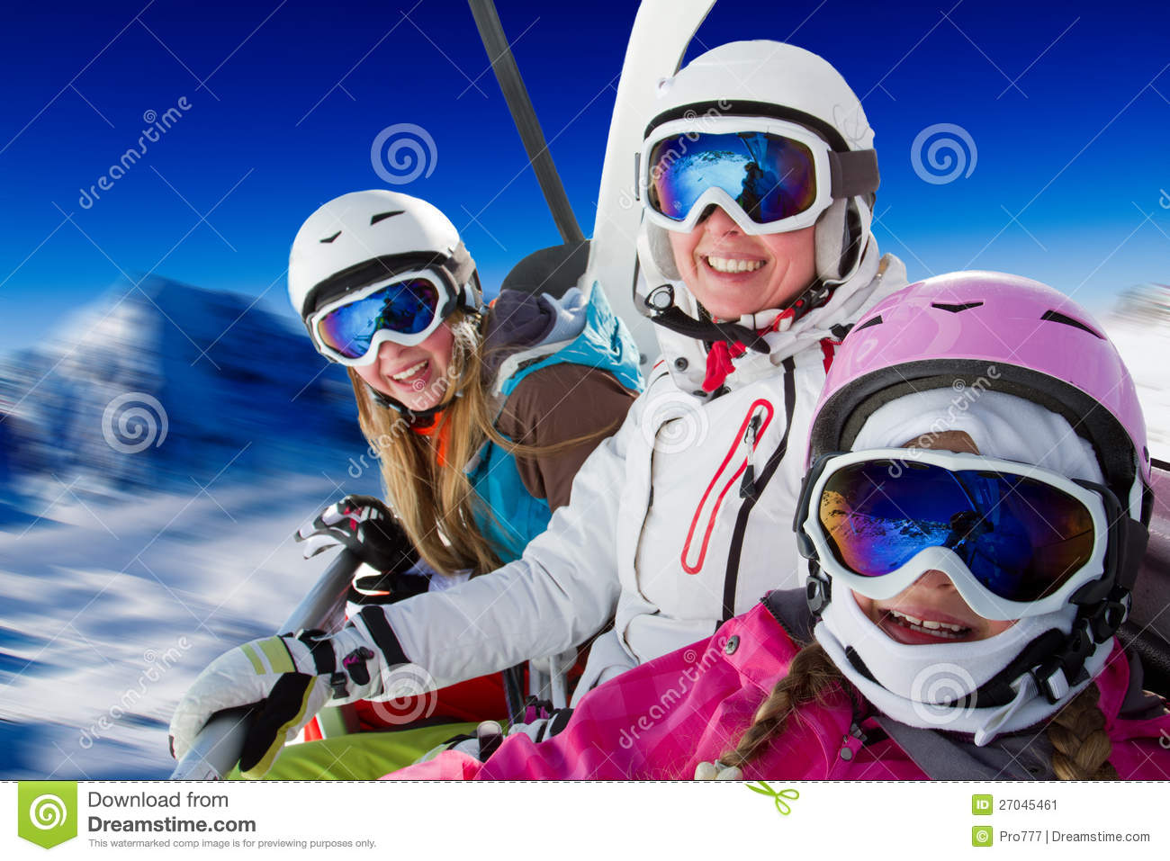 Download Ski family stock image. Image of cold, lift, happy, austria - 27045461