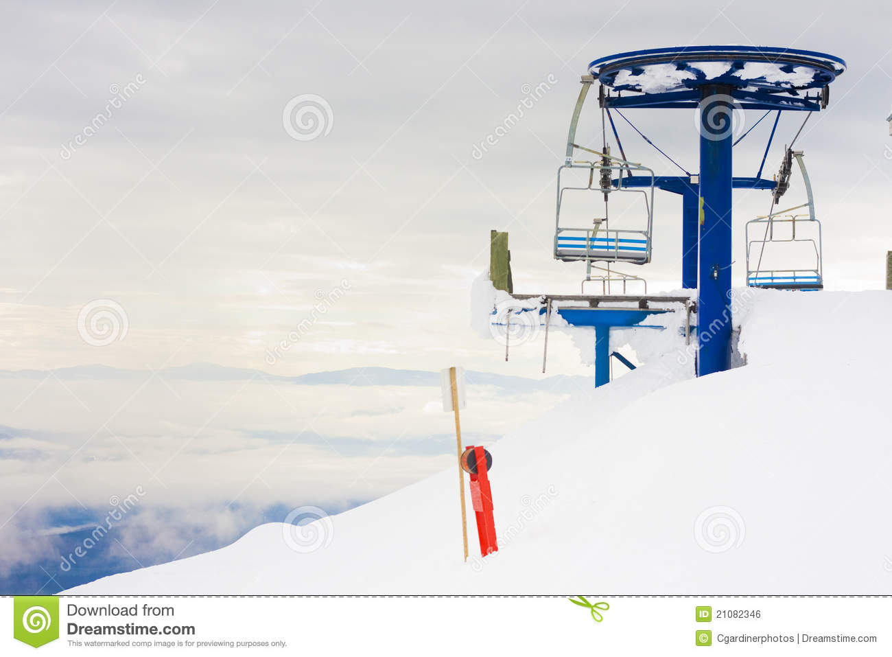 Ski hill chair lift royalty free stock image image 21082346