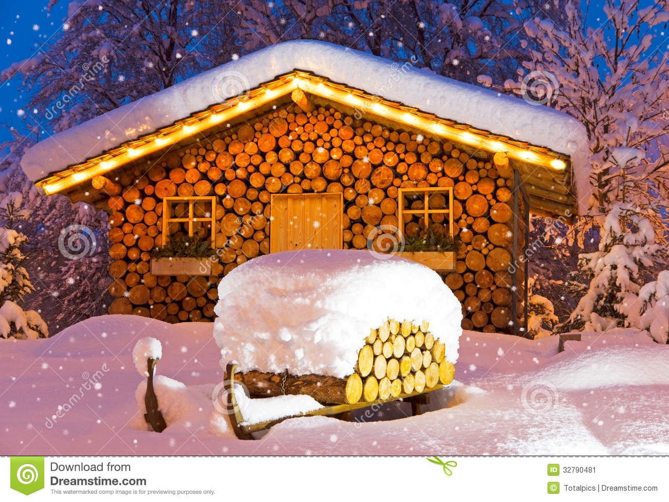 Ski Hut Winter Christmas Stock Image Image Of Germany