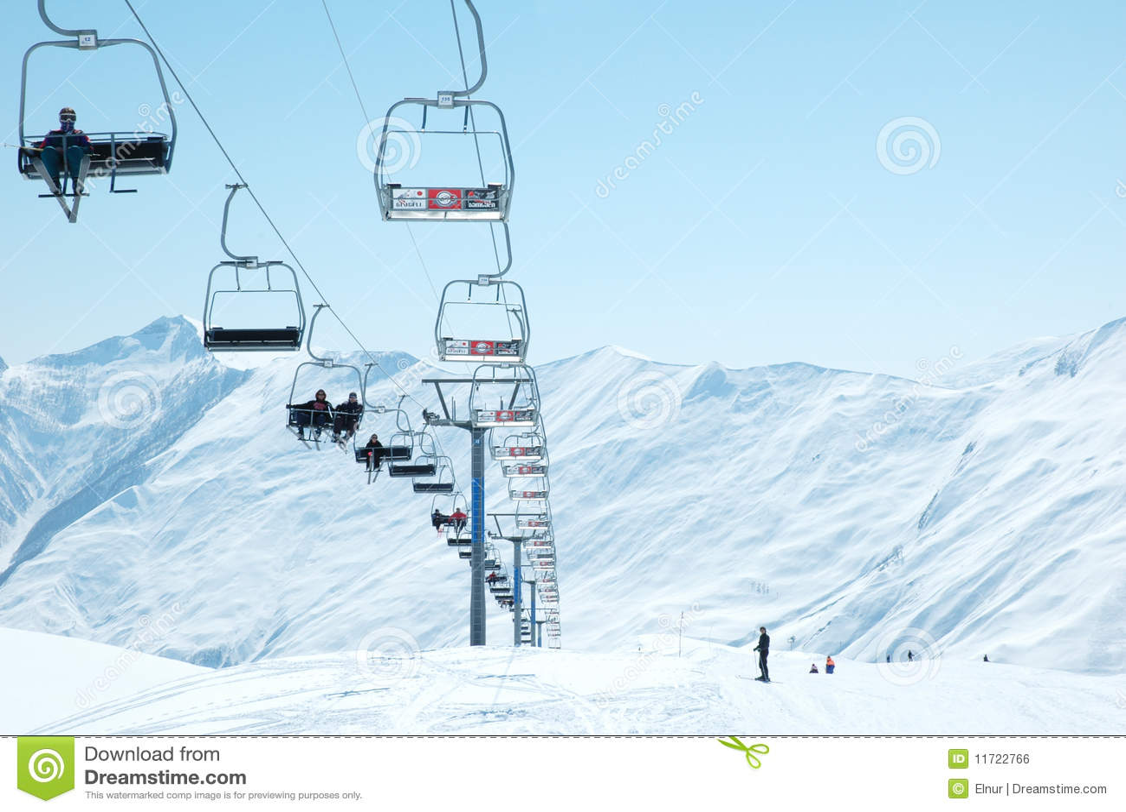 Ski lift chairs royalty free stock image image 11722766