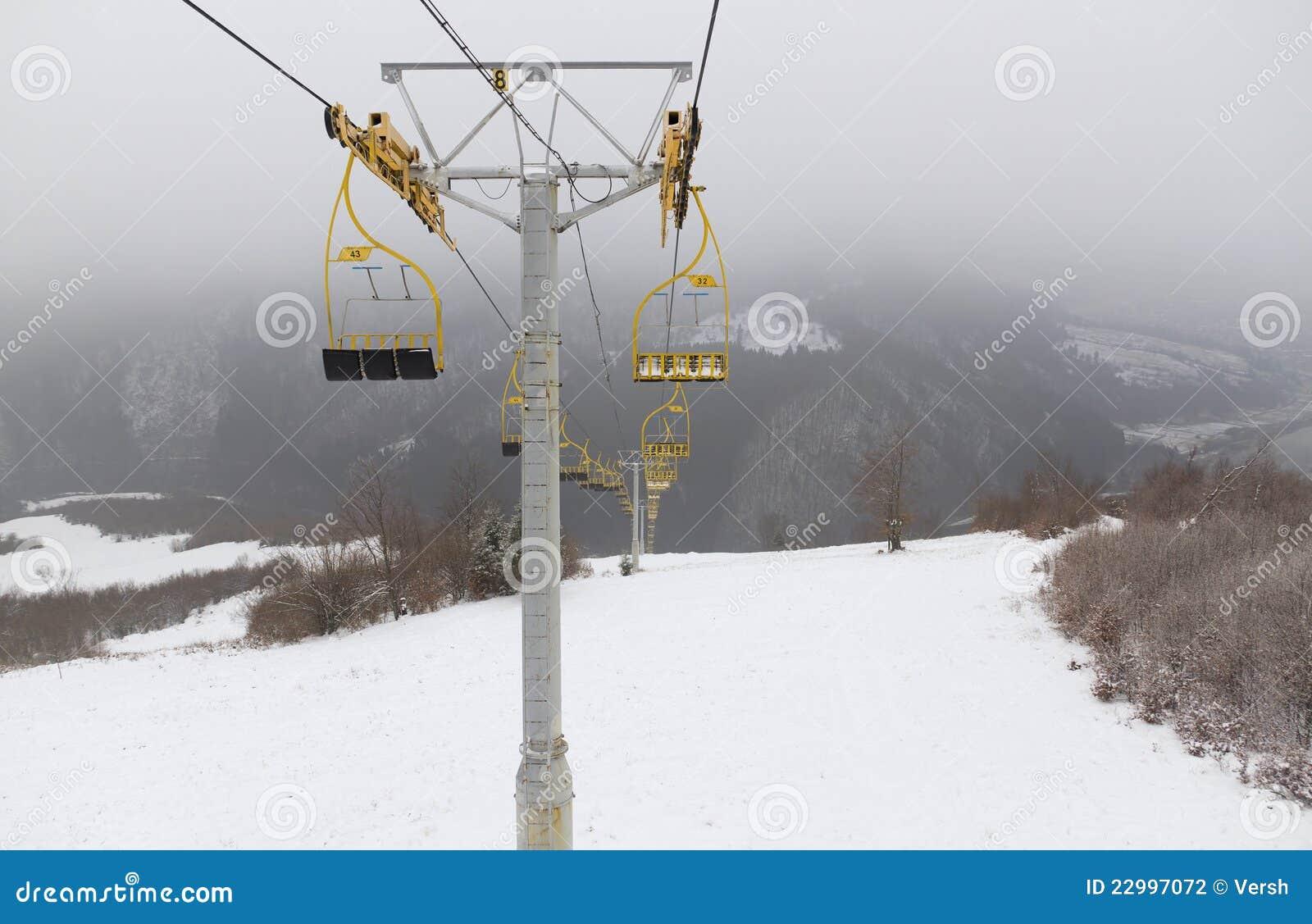 Ski lift chairs stock photography image 22997072