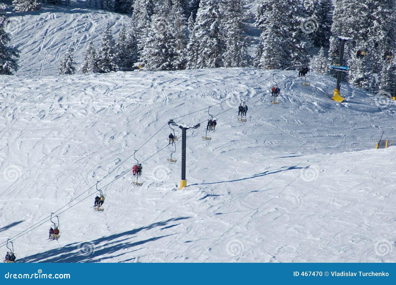 Ski lift at the resort