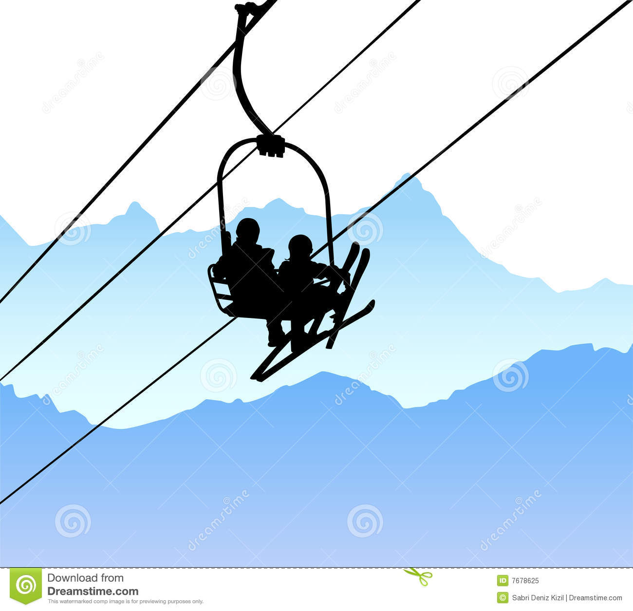 Ski Lift Vector Royalty Free Stock Photo - Image: 7678625