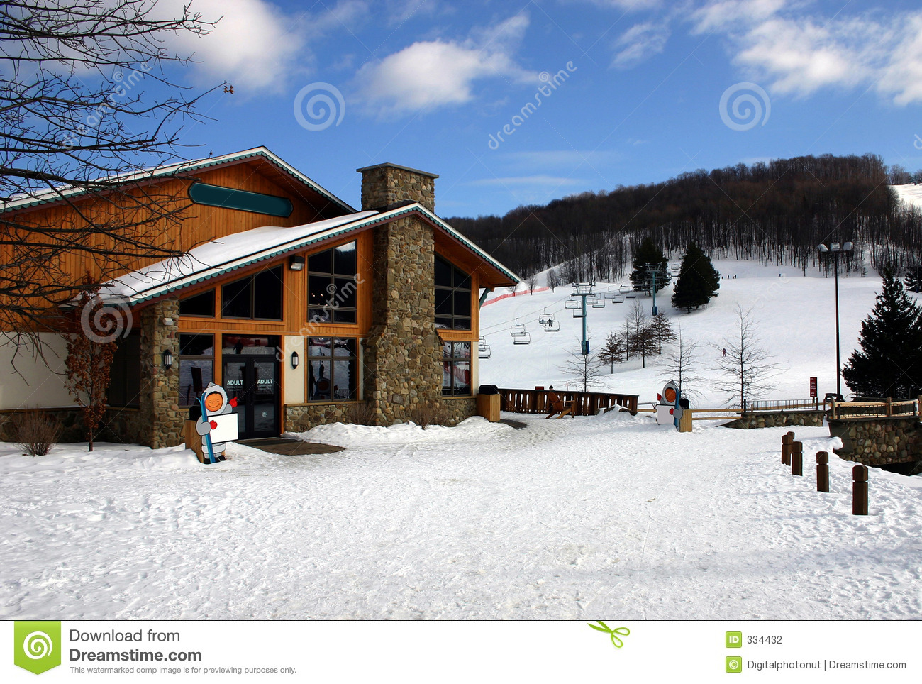 Ski lodge stock photo image of building lifts resort for Ski cottage