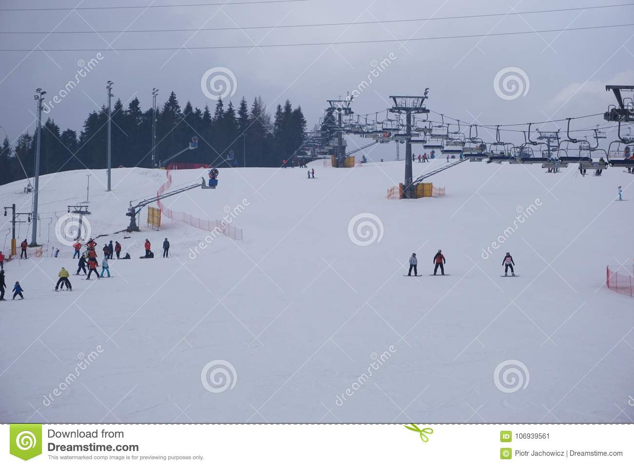 Ski Resort Bania In Bialka Tatrzanska Poland Stock Image