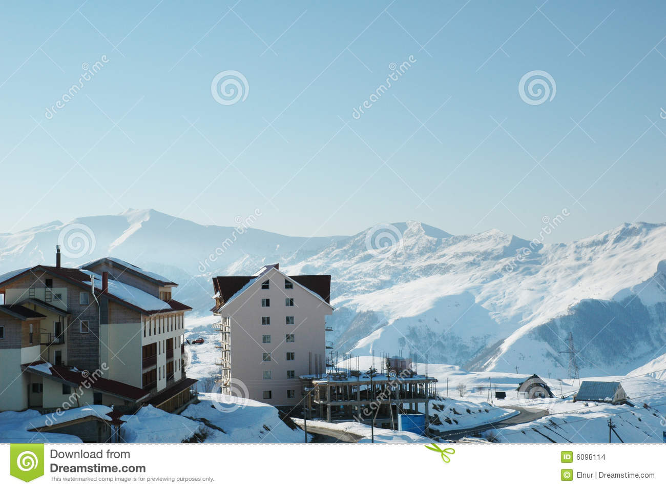 ski lodge in winter - photo #40
