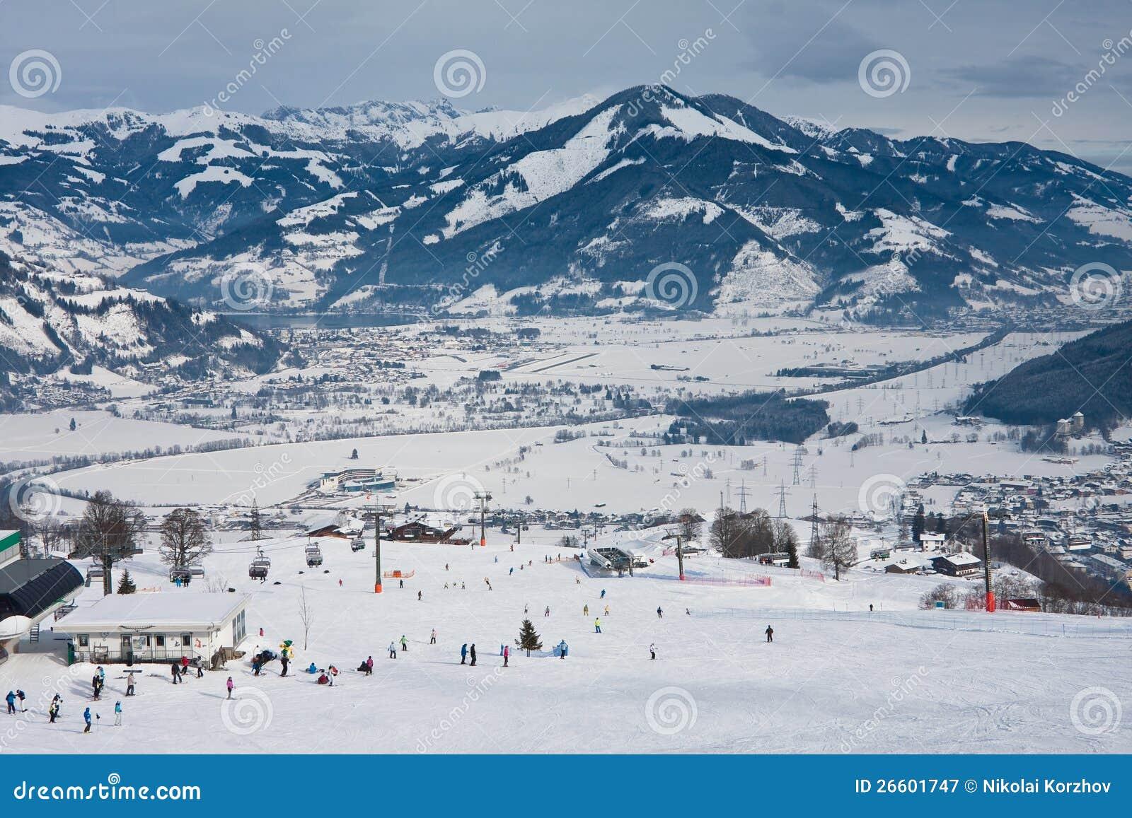 ski resort kaprun - maiskogel stock image - image of home, kaprun