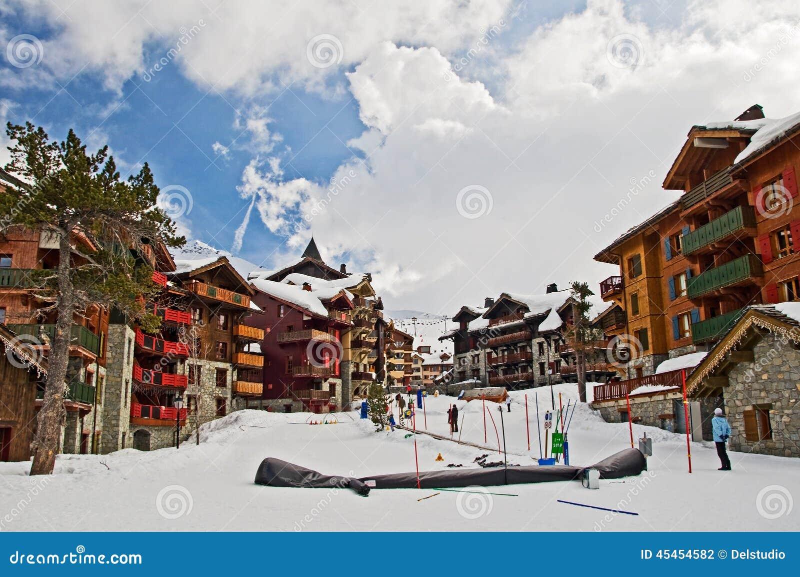 Ski resort of les Arcs 1950