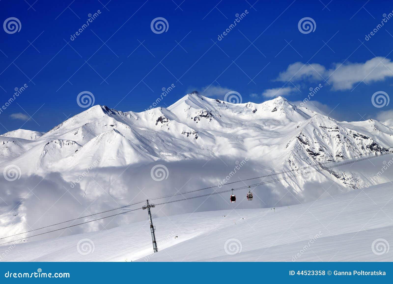 ski resort at nice sun day stock photo. image of blue - 44523358