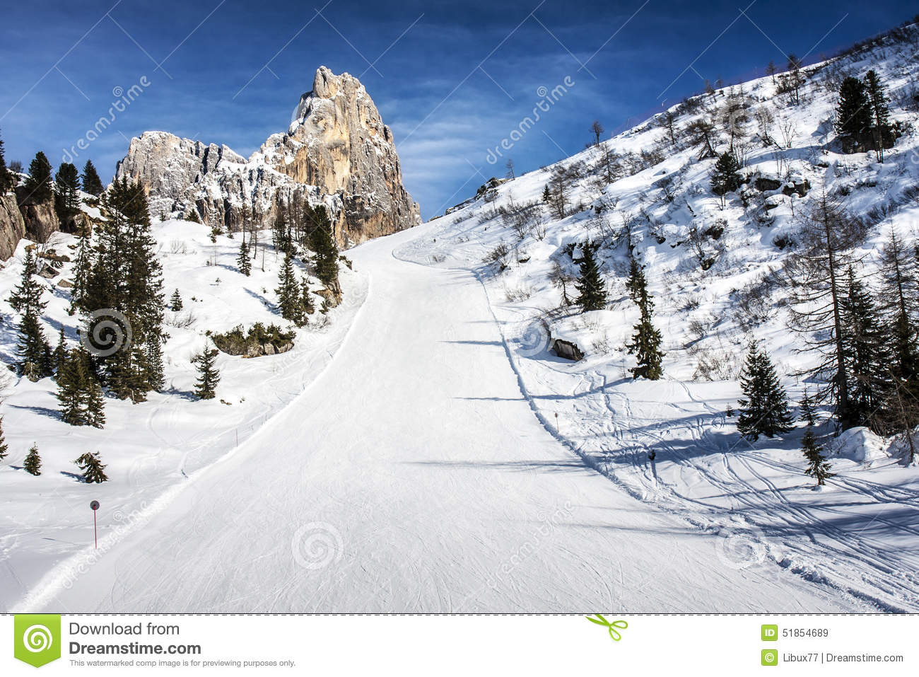 Ski slope snow dolomites stock photo image 51854689 for Vacation in the snow