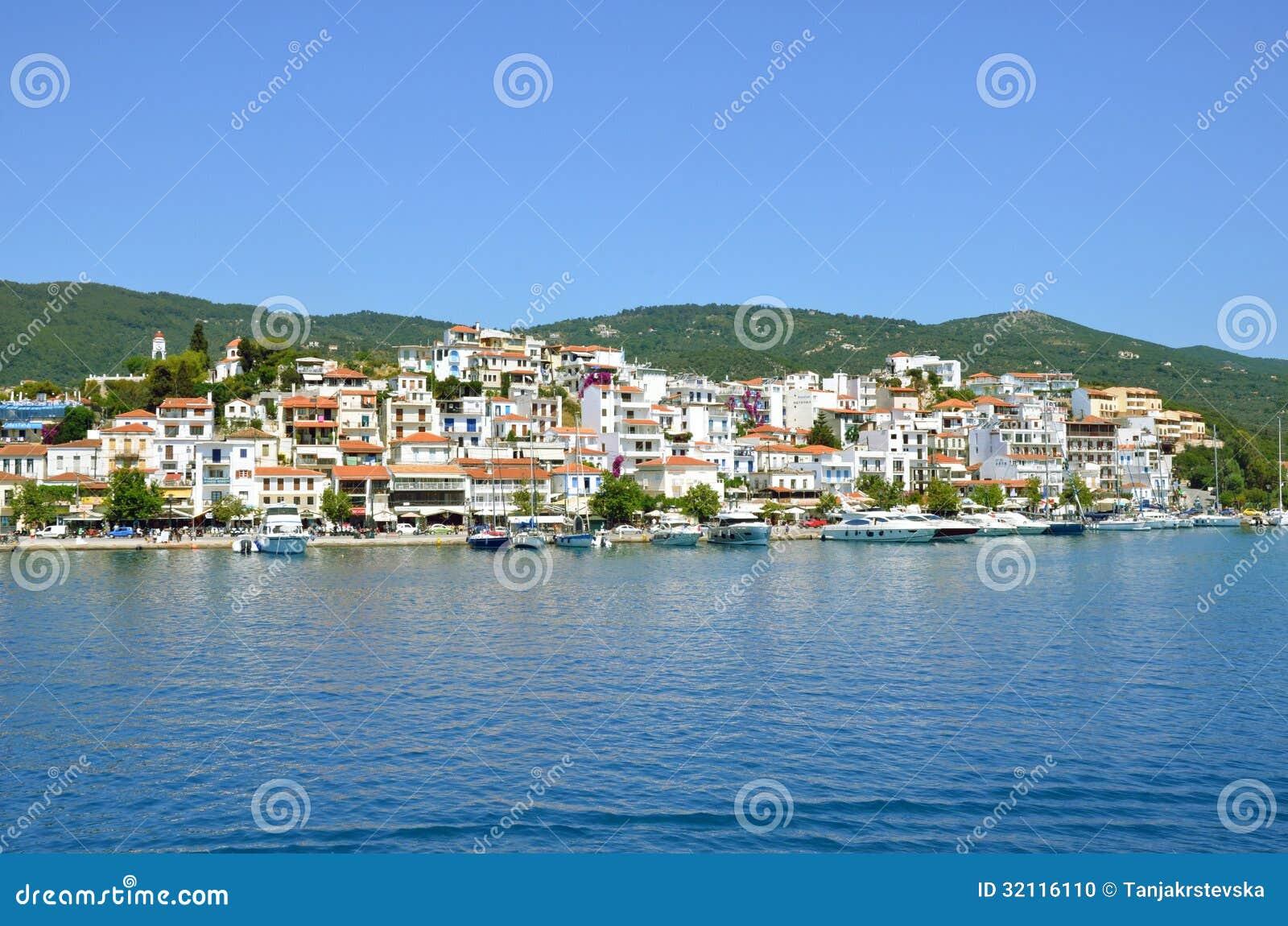 Skiathos miasteczko, Grecja