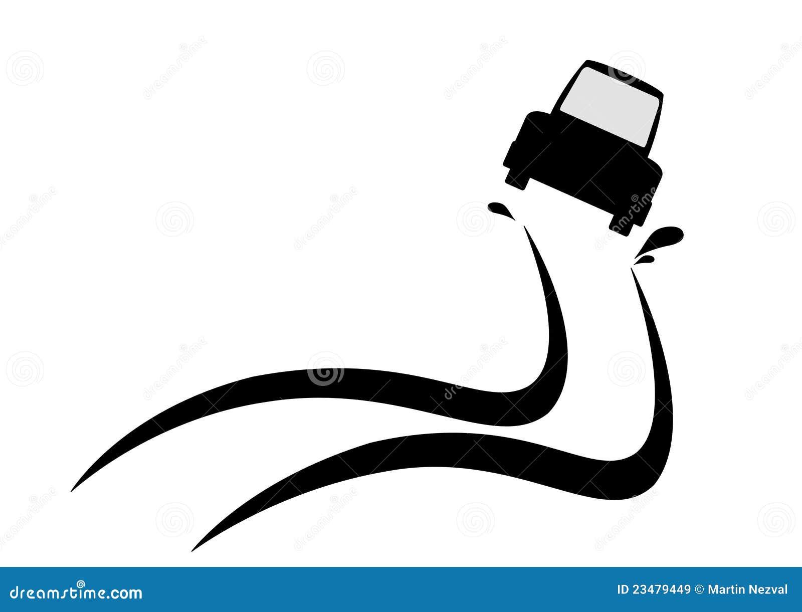 Skid Car stock illustration. Illustration of race, skidding - 23479449
