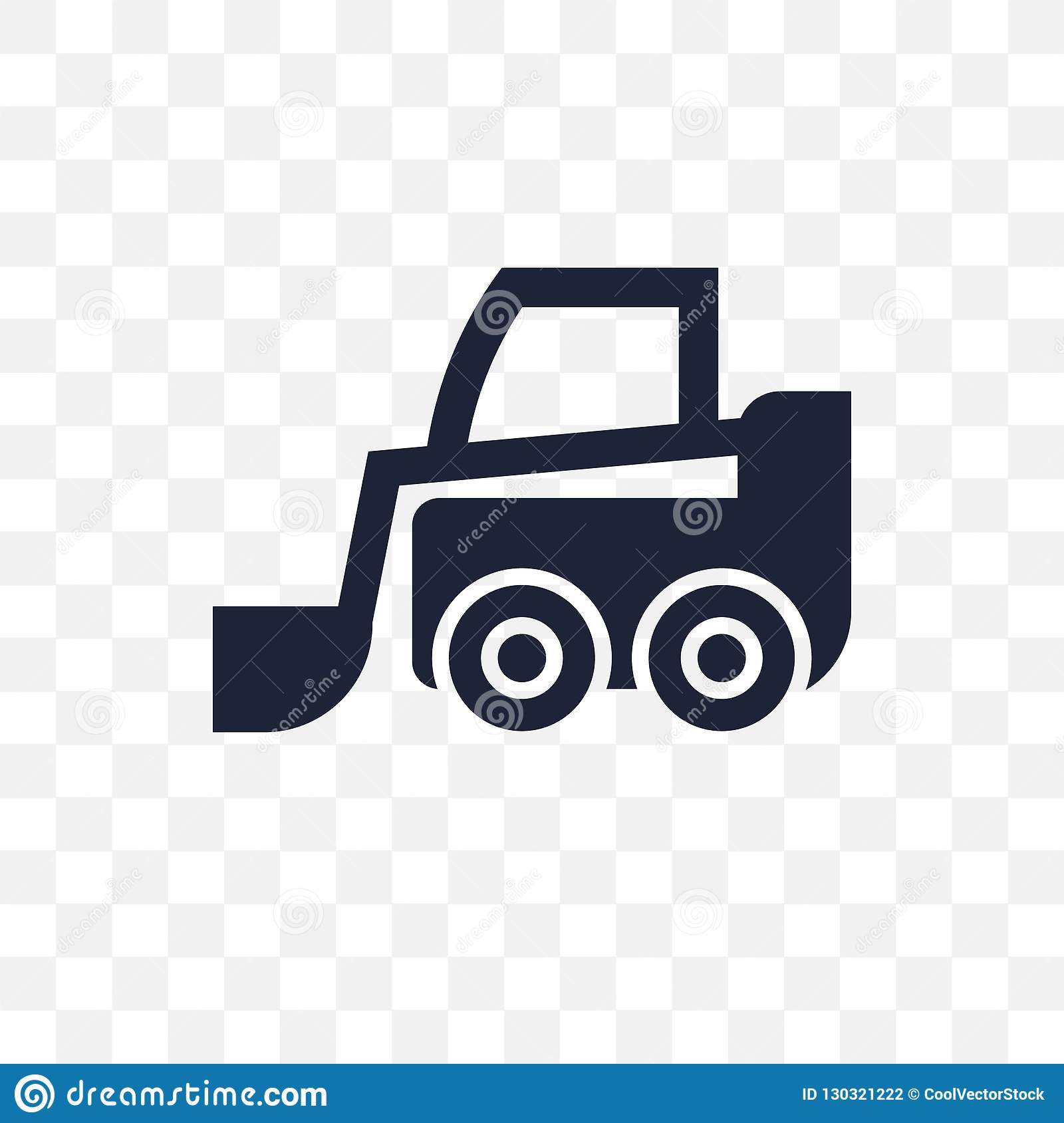 Skid Loader Transparent Icon  Skid Loader Symbol Design From