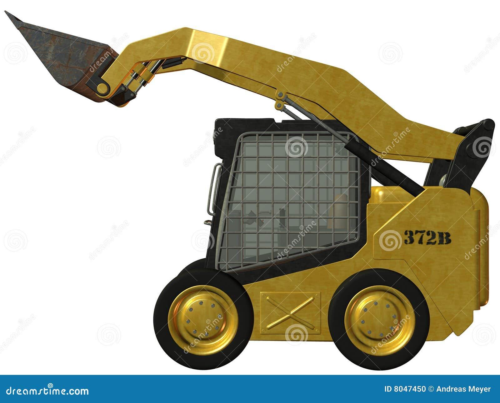3d render of an skid steer loader