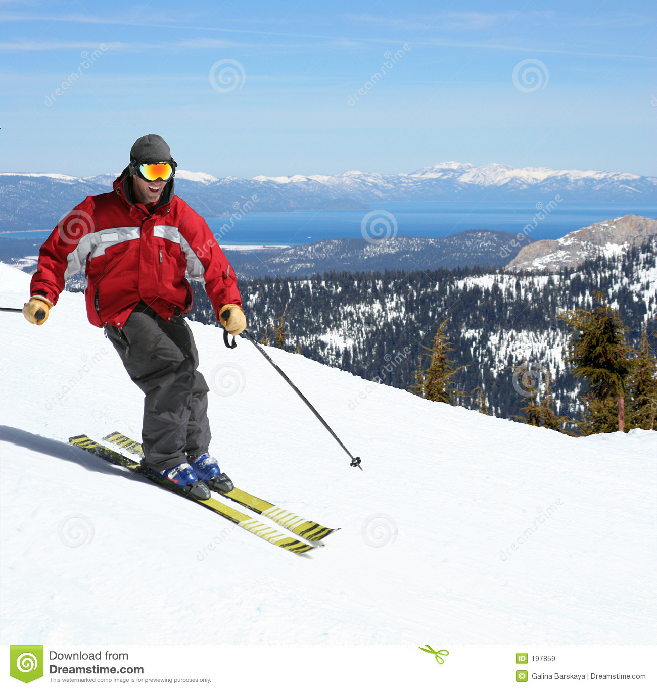 Skier On A Slope Royalty Free Stock Images Image 197859