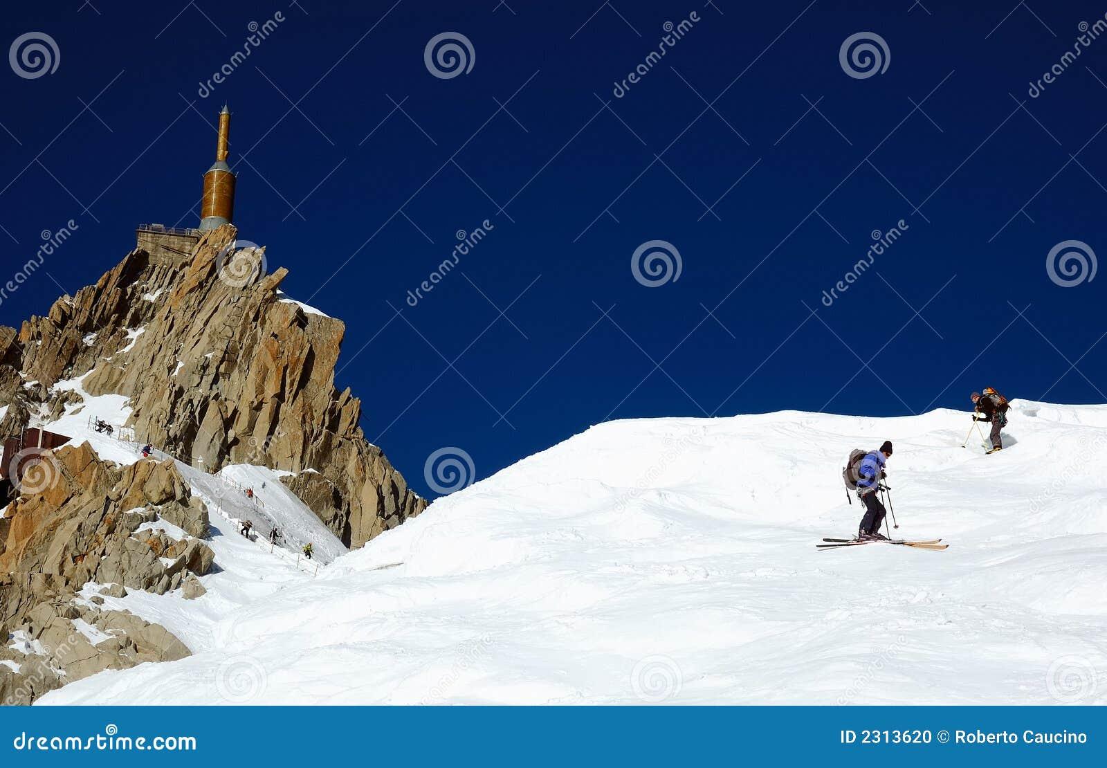 Skieur d Aiguille du Midi