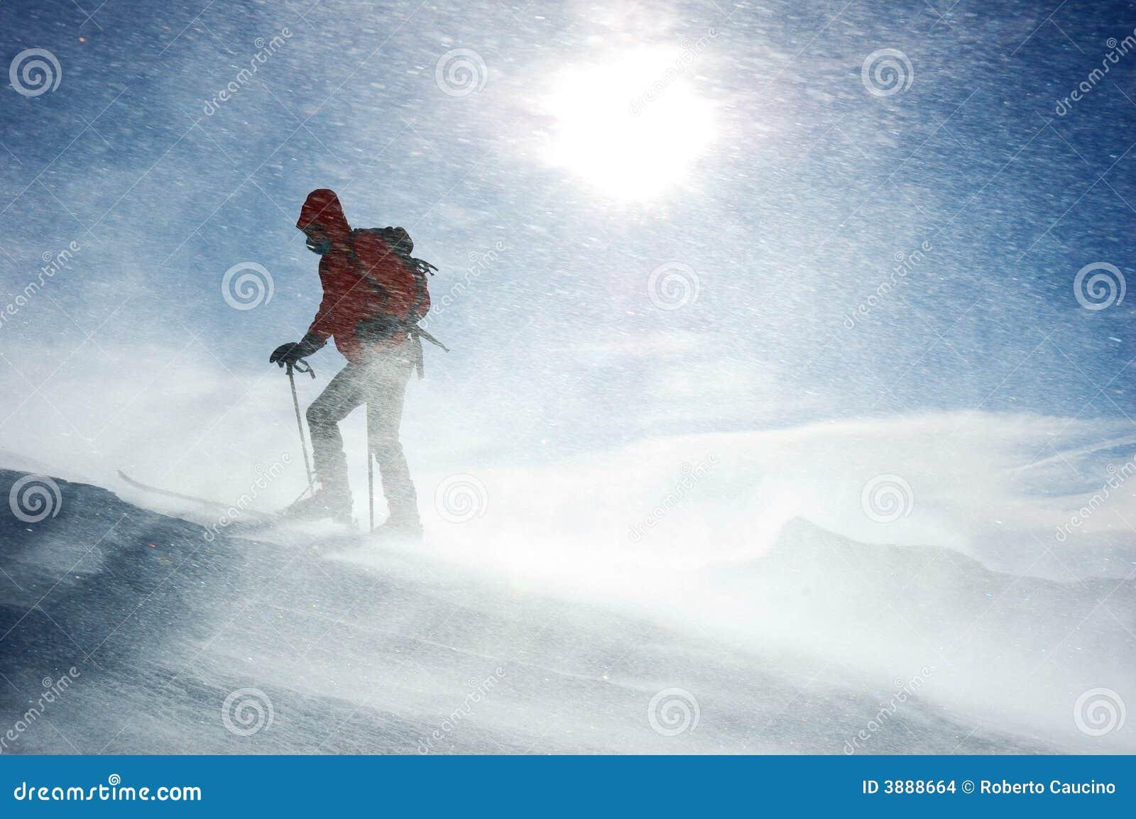 Skieur de Backcountry