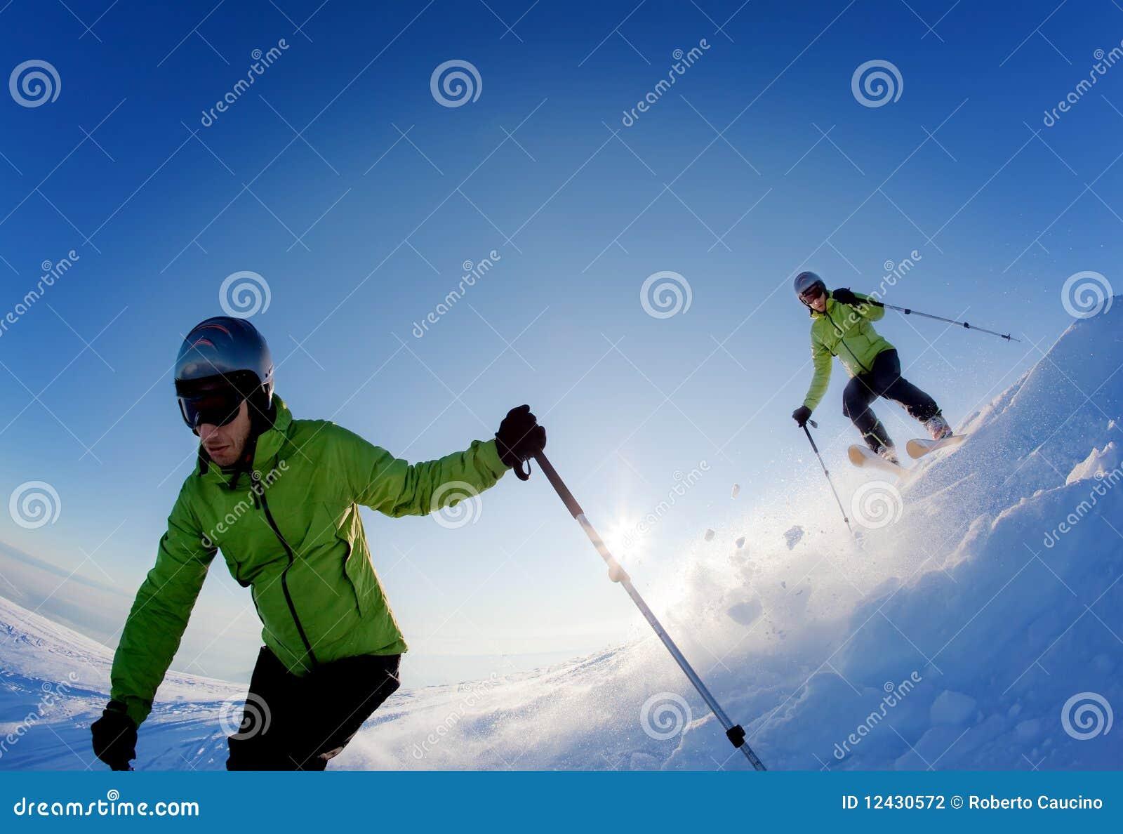 Skieur de Freeride
